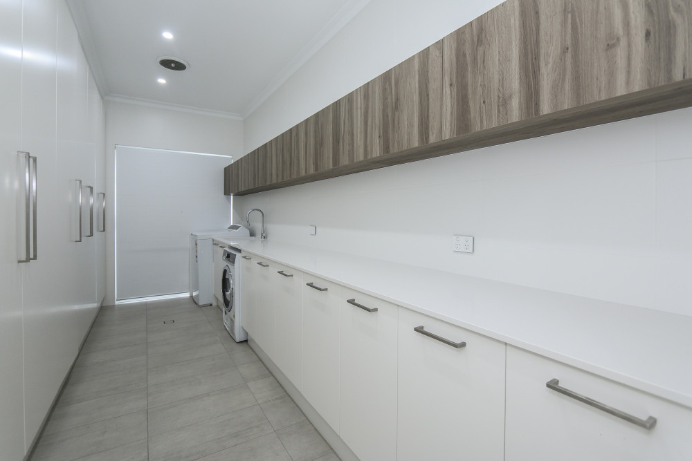 Flat pack laundry cupboards cabinets kbl remodelling for Flat pack kitchen cabinets perth